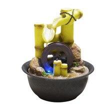 Feng Shui Wheel Indoor Water Fountains Resin Crafts Desktop Decor