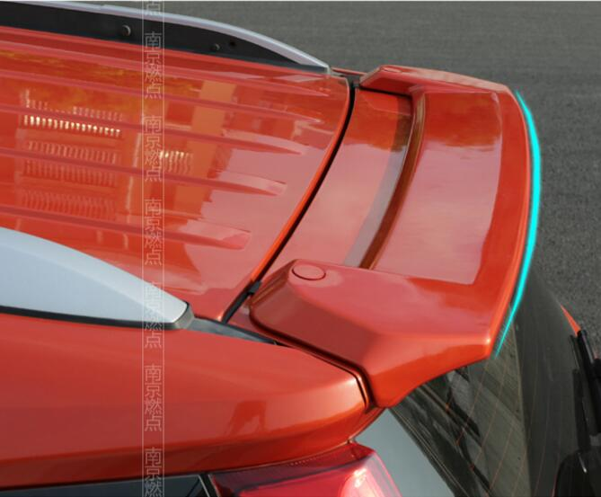 PAINT ABS CAR REAR WING TRUNK LIP SPOILER FOR Ford EcoSport 2013 2014 2015 2016 2017 FAST BY EMS