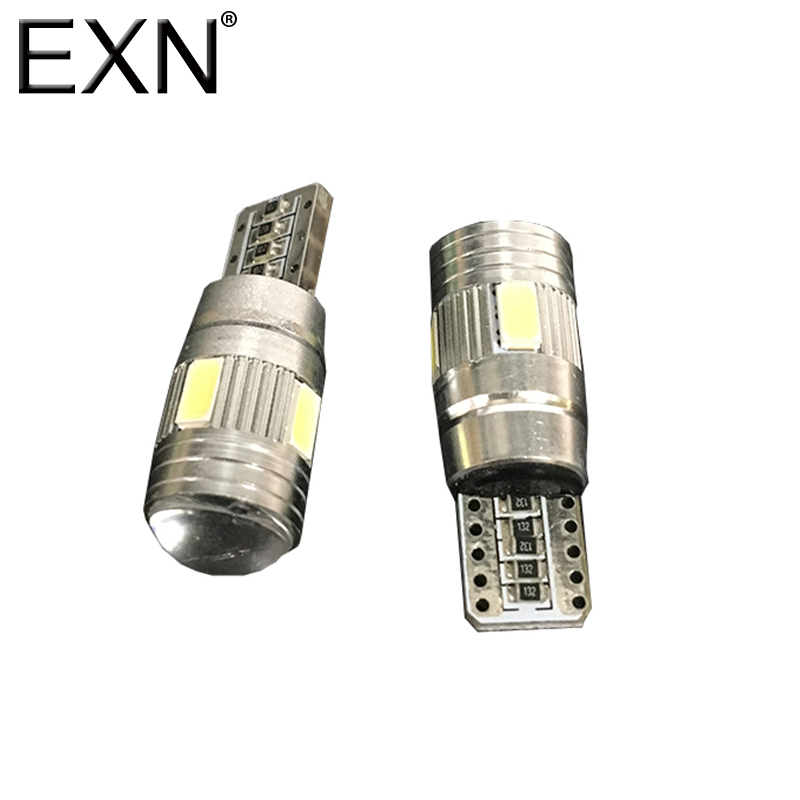 T10 LED Bulb CANBUS 10 SMD 5630 LED W5W 194 168 2825 Car Side Wedge Light Automotive T10 LED Light Replacement Parts Bulb White 4x canbus error free t10 194 168 w5w 5050 led 6 smd white side wedge light bulb