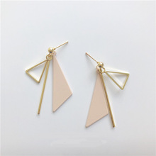 2019 Fashion Drop Dangle Earrings Simple Triangle Geometric Earrings For Women Accessories Wedding Gift Jewelry Bohemian Bijoux fashion jewelry golden triangle small black white glass drop earrings woman gift