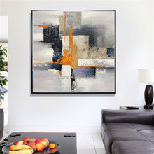 handmade oil painting on canvas modern Abstract gray purple wall picture original directly from artis zisiz 100% Be