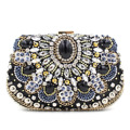 2016 Luxury Gem Diamond Flower Crystal Evening Bag Clutch Bags Hot Styling Day Clutches Lady Wedding Purse Bolsa De Festa 695t