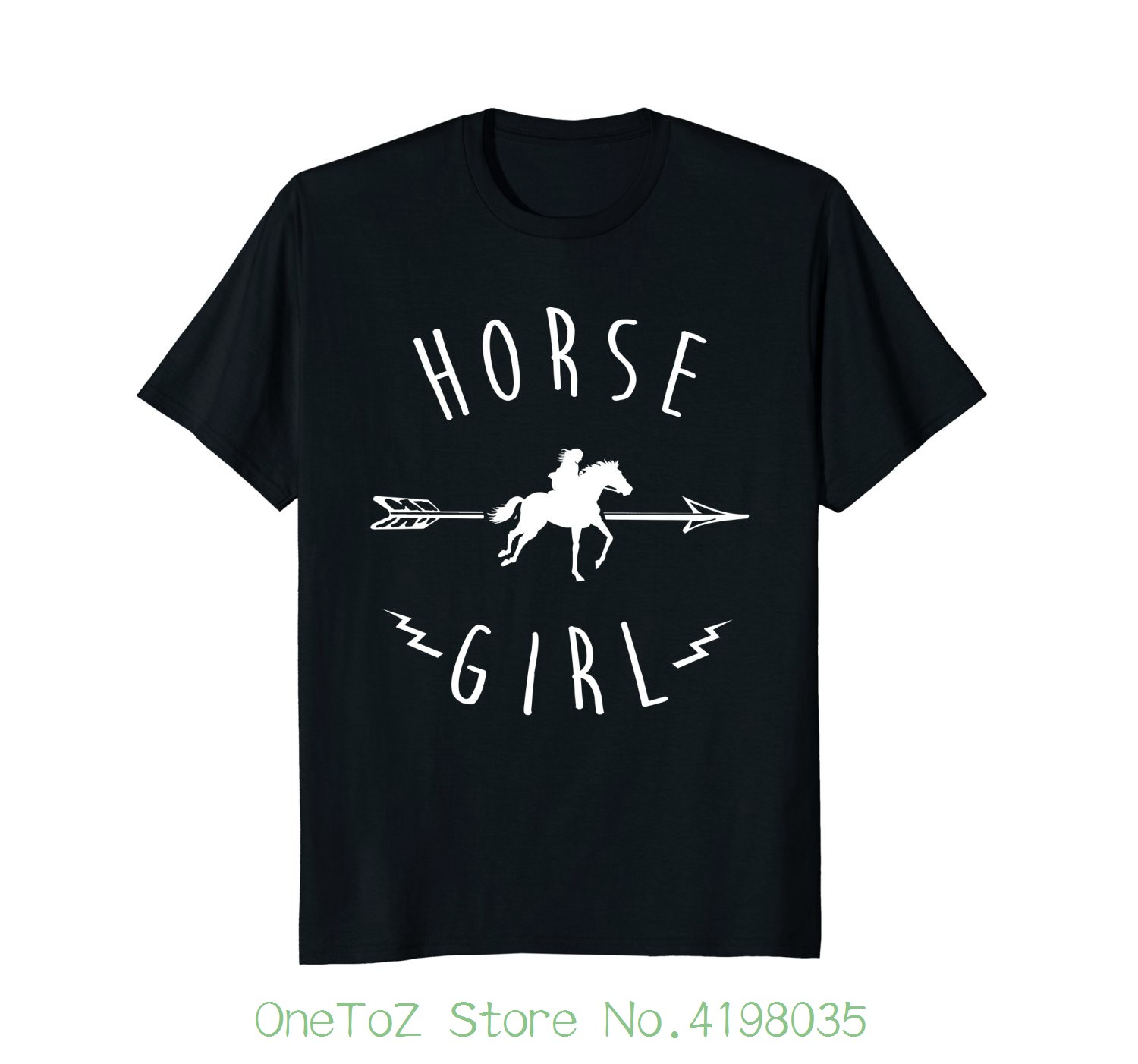 Horse Girl T Shirt Racer Riding I Love Horses Gift Idea Custom Made Good Quality T Shirt ...