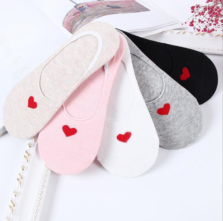 Women Cotton Boat Socks Harajuku Love Fashion Happy Funny Female Women Summer Low Cut Socks Boat Ankle Socks