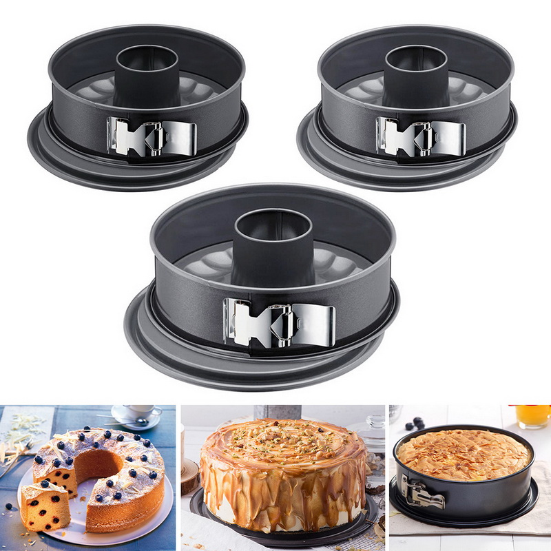 URIJK 7inch Non-stick Carbon Steel Spring Form Bakeware for Home and Bakery Use to Prepare Confectionery Recipe