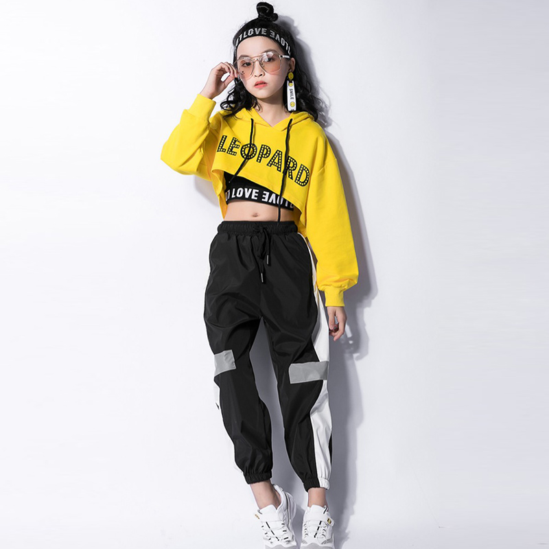 Kids Tops Vest Pants 3 Pieces Hip Hop Clothing Outfits Jazz Dance Costume Girls Ballroom Dancing Stage Wear Suit Clothing DWY987 5
