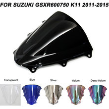 Windscreen For Suzuki GSXR600 GSXR750 GSXR 600 750 2011 2012 2013 2014 2015 2016 Motorcycle Windshield Wind Deflectors 2pcs front floating brake disc rotor for suzuki gsxr600 gsxr750 2008 2009 2010 2011 2012 2013 2014 gsxr1000 gsxr 600 750 1000