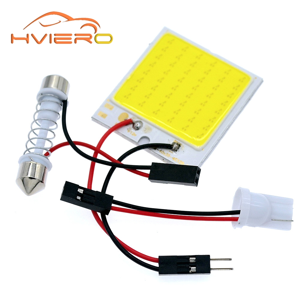 1Pcs C5W Cob 48 SMD chip White Reading Lamp led T10 Car Led parking Bulb Auto Interior Panel Light Festoon license plate lights 2pcs 12v 31mm 36mm 39mm 41mm canbus led auto festoon light error free interior doom lamp car styling for volvo bmw audi benz