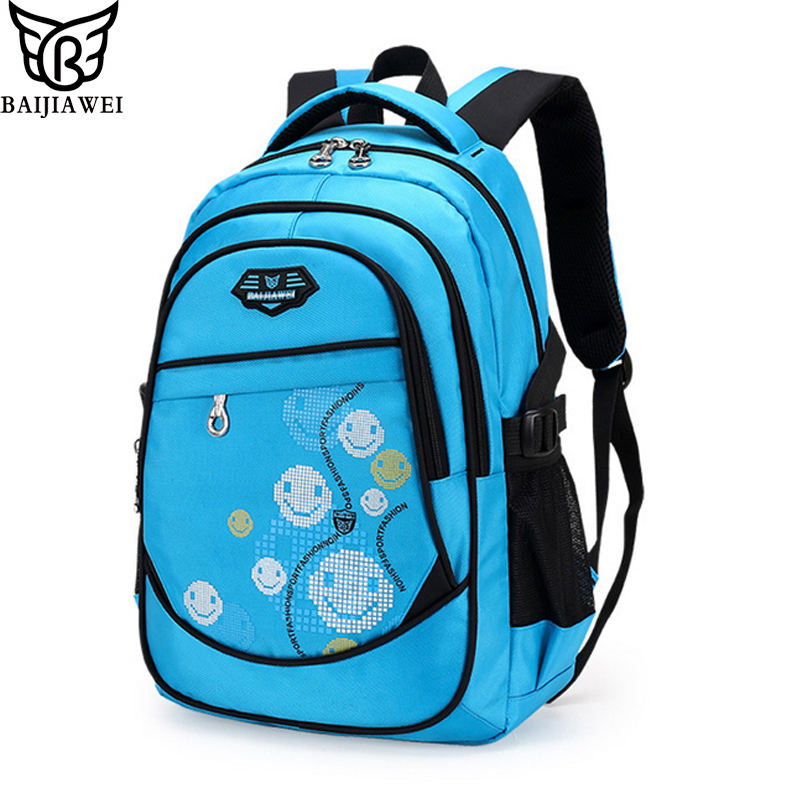 BAIJIAWEI Boy Backpack School Bags Mochila Escolar Children Kids Backpacks Waterproof Fashion Print School Backpacks for Girls baijiawei new children school bags for girls boys children waterproof backpack in primary school backpacks mochila infantil zip