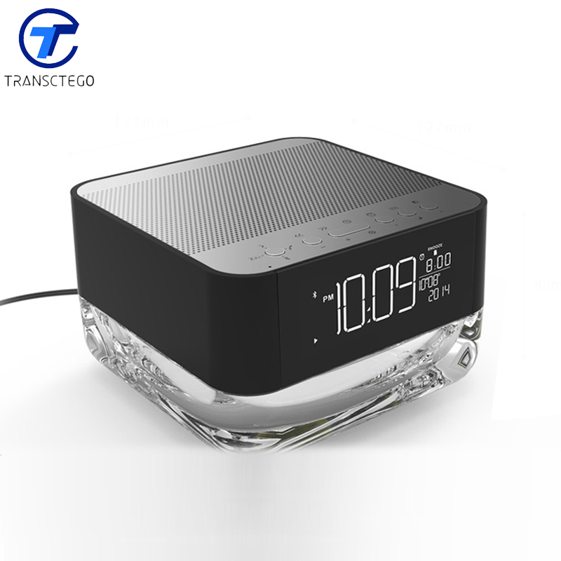 Wireless Bluetooth Speaker Mini Stereo Night Light Portable Card Speaker Radio Alarm цены