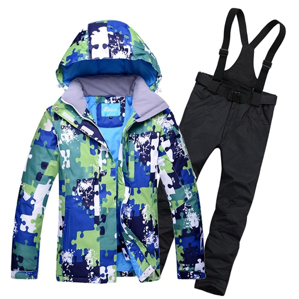 Prix pour Mâle Neige Ski Costume D'eau Coupe-Vent Alpinisme et Skiiing veste + neige Bib Pantalon Super Garder La Chaleur Hommes & Femmes vêtements
