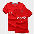 CC T Shirt Women 2017 Summer Style Lovers TShirt Short Sleeve Cotton Letter Print COCO Channel T-Shirt Women Brand Couple Outfit