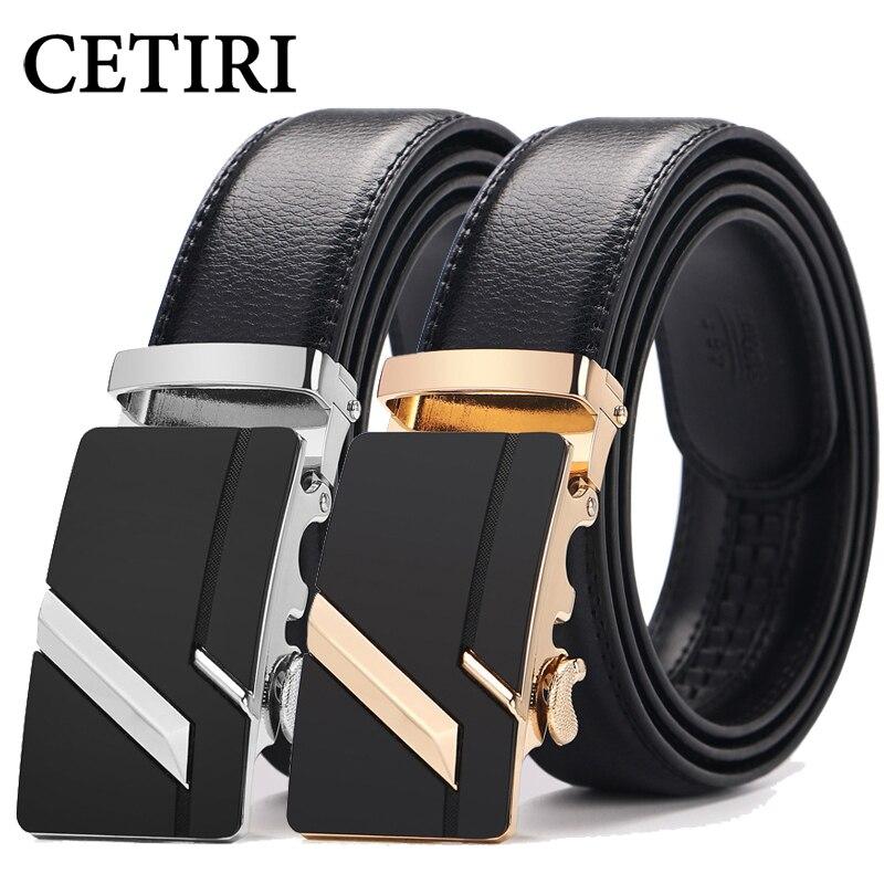 CETIRI Male   Belt   110cm 120cm 130cm 140cm 150cm Plus Size Long 2018 New Designer Leather Strap Automatic Buckle   Belts   For Men