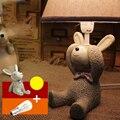 Top 110 V-220 V E14 Llevó la Luz del Escritorio Lámpara de Escritorio Sala de Niños De Madera Meng Botón Del Interruptor Mono de Noche de Dibujos Animados lámpara de Mesa De Luz