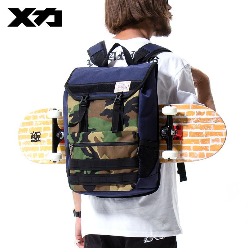 MACKAR 2017 Fashion Skateboard Backpack School Bag Skate Backpacks Purple/Camouflage Street Style Mochila Skateboard Carry Bag чехол для скейтборда skate bag tour camo pixel