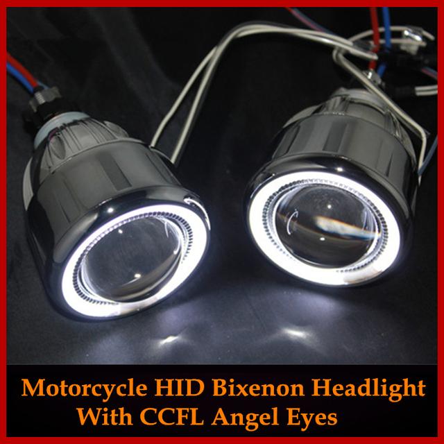 HID BiXenon Objetivo de Proyector Ángel Eyes Para Honda CBR600RR CBR600F4I CBR1000RR CBR 500R/YAMAHA FZ6/Suzuki GSXR 600 750