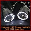 HID BiXenon Projector Lens Kit Angel Eyes For Honda CBR600RR CBR600F4I CBR1000RR CBR 500R/ YAMAHA FZ6/ Suzuki GSXR 600 750