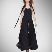 Long Dress Sale Special Offer Natural None Tank Solid Brief Polyester Ankle length Women Dress Autumn Big Swing Straps