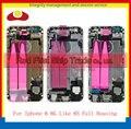 Substituição para iphone 6 6g como 6 s bateria tampa traseira completa habitação moldura chassis assembléia completa com cabos flex + adesivo