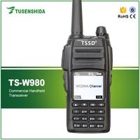 WCDMA GSM Walkie Talkie Smart Mobile Phone Radio LCD Display TSSD TS W980 with GPS