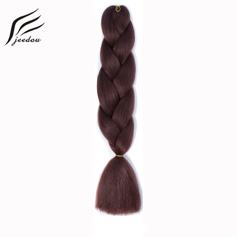 jeedou Crochet Braids Natural Hair Extensions Synthetic Long 24 100g/Lot Blue Pink Color DIY Braiding Hairstyles Hairpiece