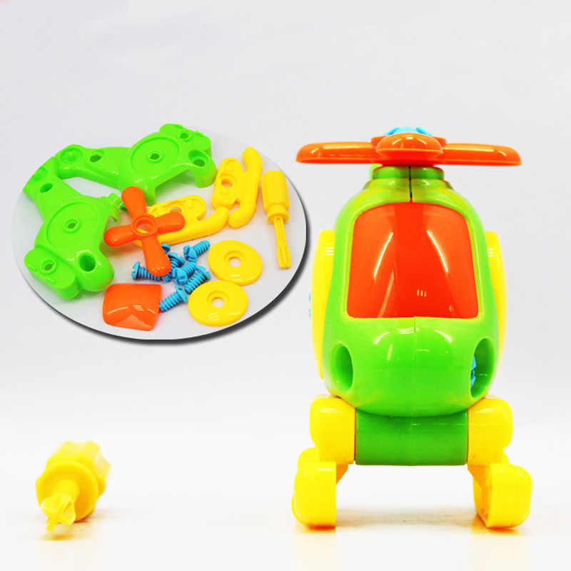 Kids Baby Early Learning Puzzle Educational Toys Airplane Kids Disassembly Assembly Cartoon Toy Aircraft