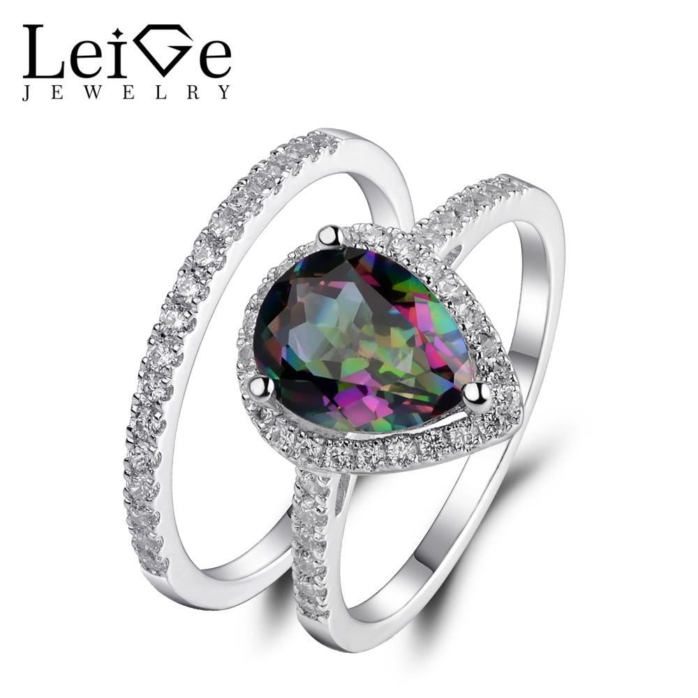 ₪Leige Jewelry Mystic Rainbow ᗑ Ring Ring Natural Gemstone