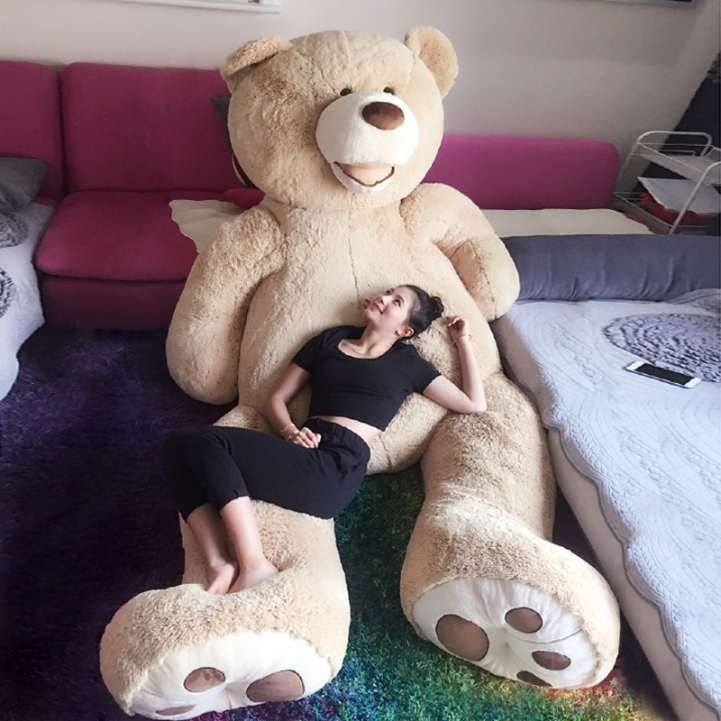 1pc 100-200CM Cute Home Decoration USA Huge Super Teddy Bear Plush Toy Shell .Girl Birthday Teddy Plush Toy Gift