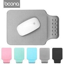 Boona коврик для мыши ноутбук с нескользящей натуральной резины коврик для мыши мышь комфорт с запястий для дома и путешествий, офиса и игр