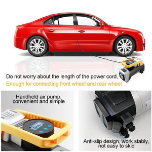 Image 2 - Air Compressor Pump, Digital Tire Inflator DC 12V 120W 150 PSI Car Air Pump with Auto Shut Off Gauge and Powerful Emergency