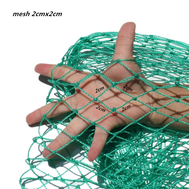 0 5mm thick line D120cm L3 8m fishing bag outdoor rede de pesca fishing net herramientas creel fish tool mesh bag 3 sizes in Fishing Net from Sports Entertainment