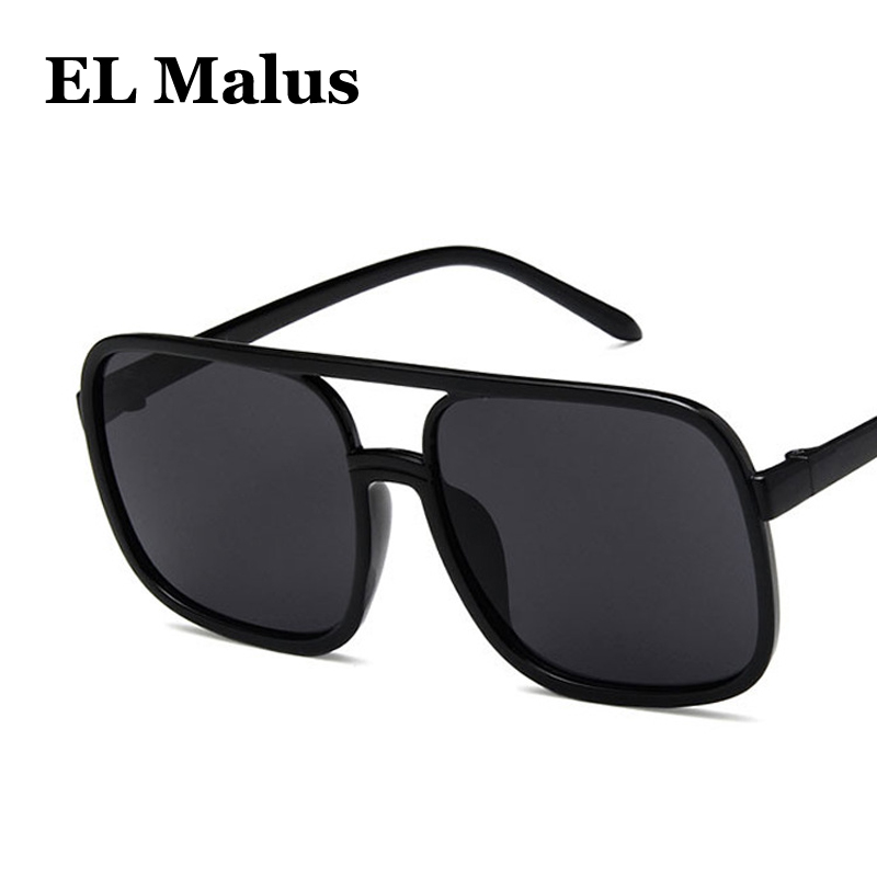 square Frame Sunglasses Women Mens Dark Green Lens Gold Metal Shades Sexy Ladies Sun Glasses Brand Designer Oculos Men's Sunglasses el Malus
