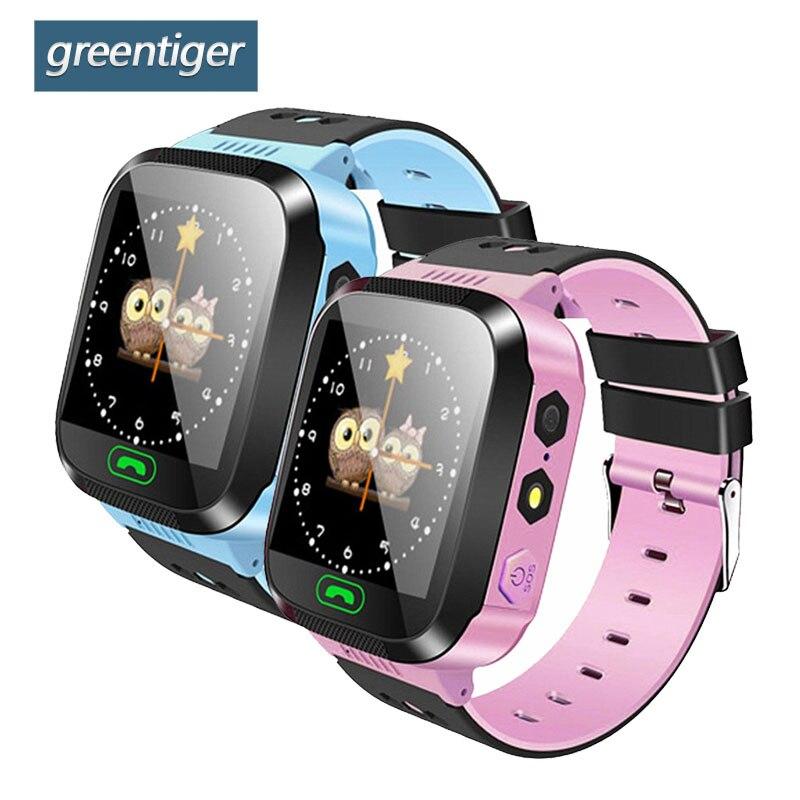 Greentiger Q02 Kinder Smart Uhr Kamera Beleuchtung Touch Screen SOS Anruf LBS Tracking Location Finder Kinder Baby Smart Uhr