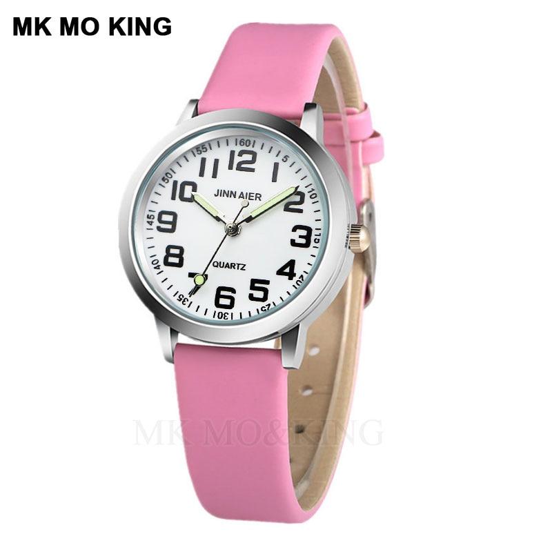 Children's Watch Casual Arbor Digital Quartz Boy Clock 7 Color Leather Jelly Girl Wrist Watches clock relogio montre enfant