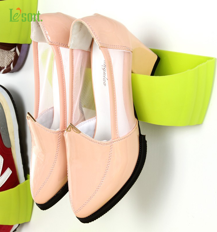 Stereo hanging rack wall wall pasted three-dimensional combination creative shoe Wall Mounted Storage Rack