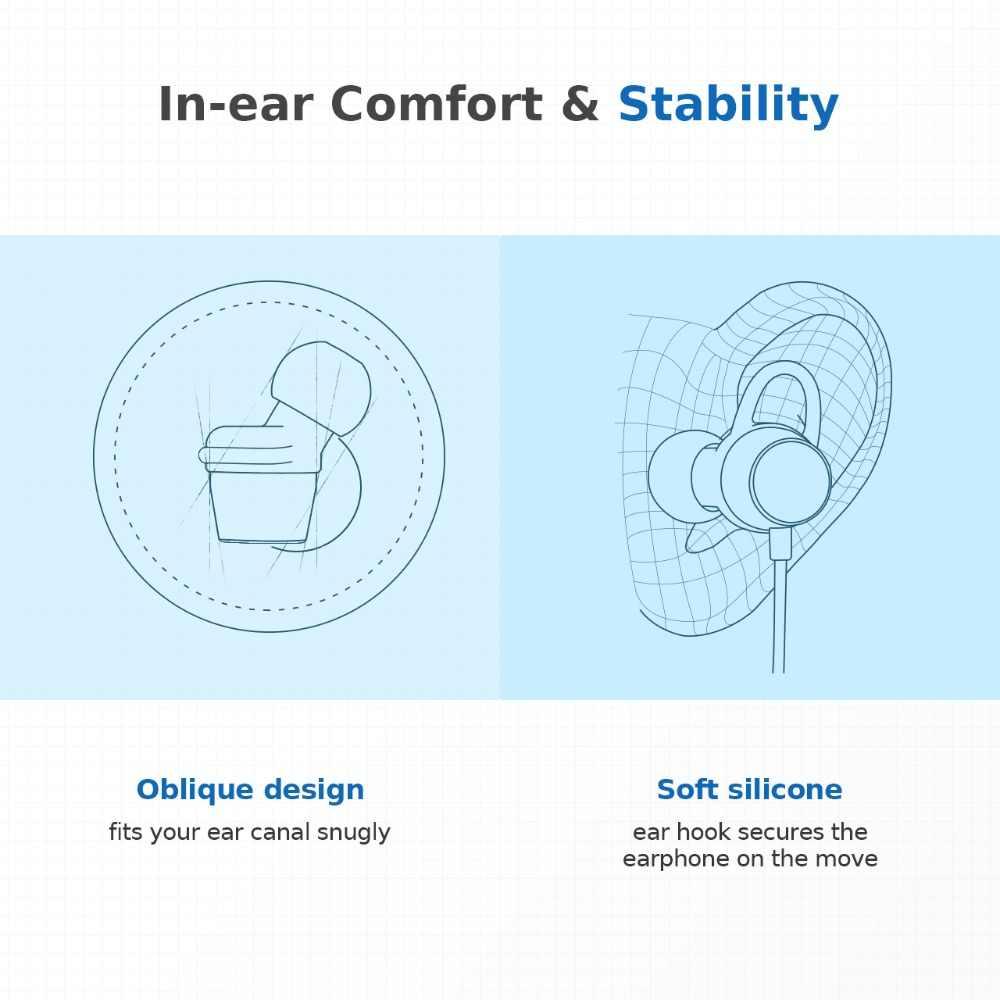 Oryginalny Mpow BH083 Bluetooth 4.1 słuchawki douszne bezprzewodowe słuchawki magnetyczne Stereo IPX6 wodoodporny zestaw słuchawkowy dla aktywnych telefonów