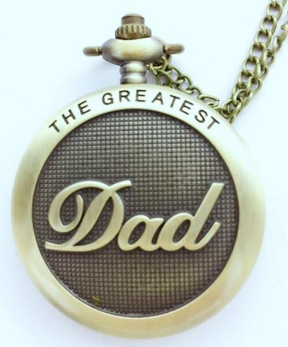 Antique Bronze Wholesale And Mixed DAD Men Gift Quartz Necklace Good Quality Pocket Watches
