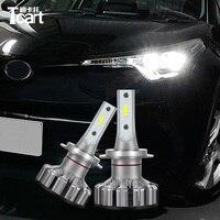 Tcart 1 Set Car 9012 HIR2 Extremel LED Headlights Auto Headlamps Bright Lights Bulbs Car Accessories For Toyota C HR 2017 2018