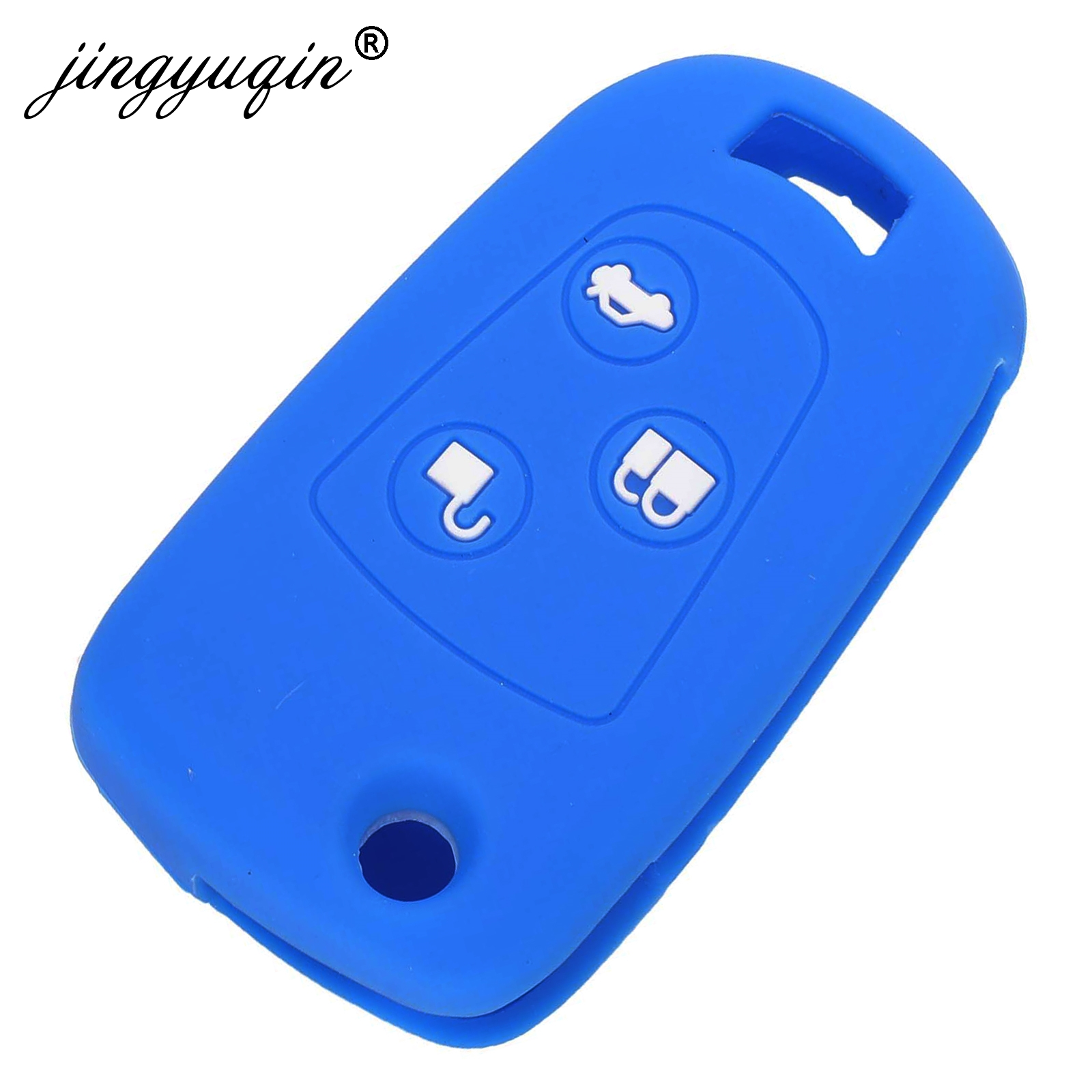 Image 3 - jingyuqin Flip 3 Buttons Remote Key Fob Silicone Case For Ford Focus Mondeo Fiesta Modified Flip Key Cover-in Key Case for Car from Automobiles & Motorcycles