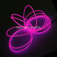 Fashion 3 2mm 5Meter 10 Color Optional Flexible EL Wire Set Neon Thread Powered By DC