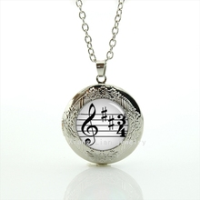 2017 Maxi Necklace The Exquisite Handicraft Locket Necklace Musician's Gifts, Gifts For Him, High Note Notes Geek Jewelry T743