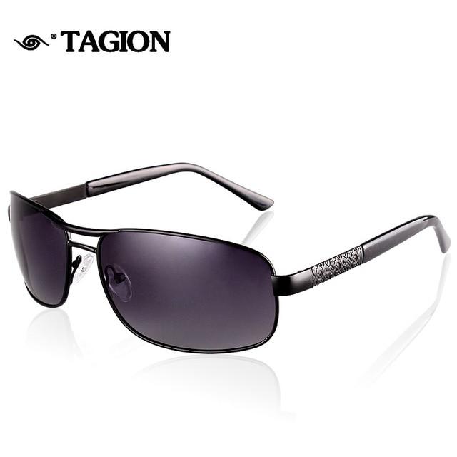 TAGION Homem Polarizada Óculos De Sol Dos Homens de Condução Ao Ar Livre Óculos  de Sol 1c580ee1c0