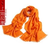 luxury brand solid wool scarf for women winter neck warmer wraps pashmina shawls female ponchos tippet bufanda lana mujer