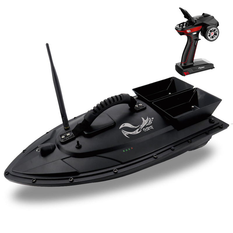 Flytec V500 50 cm appâts de pêche bateau RC 500 M détecteur de poisson à distance 5.4 km/h 2-24 h en utilisant le temps Double moteur jouet extérieur avec émetteur