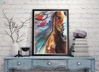 Darmowa Wysyłka Wysokiej Jakości Konia Malarstwo Abstrakcyjne Nowoczesne Koń Obraz Olejny Na Płótnie Handmade Zwierząt Zdjęcia Wall Art