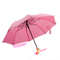 Handle Wooden Lovely Duck Head Umbrella Sunny And Rainy Umbrella Automatic Dual Folding Sun Parasol For Women Men Gifts