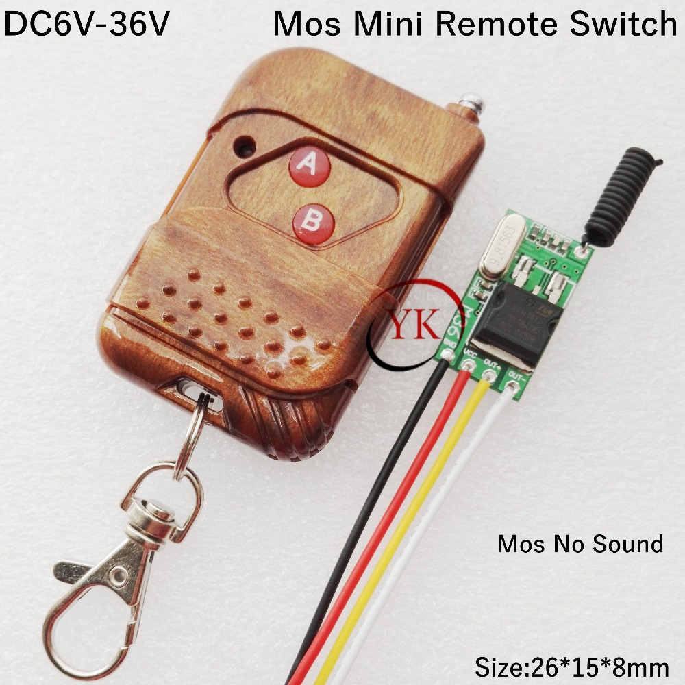 storage battery Power Supply Remote Control Switch Small Wireless Controller Mos No Sound Light Lamp LED Lock Remote ON OFF small relays wireless rc switch button signal line on off dc3 7 5v 12v controller remote control module