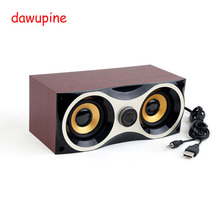 dawupine Wood Computer Audio Desktop Speaker Notebook mini Subwoofer USB Power Supply