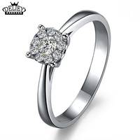 Free Shipping Real Solid Silver Ring Luxurious Sona CZ Diamond Wedding Ring For Women 100 925