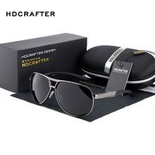 HDCRAFTER Brand Polarized Men's UV400 Sunglasses 2018 Mirror Eyewear Sun Glasses For Men With Case Box oculos de sol feminino